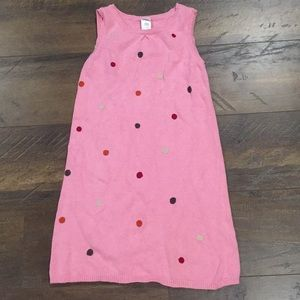children's knit dress with polkadots